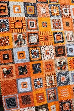 The Q and the U - Quilting Blog: Halloween Quilt Finish #1
