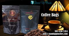 #CoffeeBags - we are using highest grade materials, which will keep your products safe and fresh for a long time.  More information Visit at http://www.standuppouches.com/coffee-bags.html