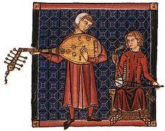 LAÚD Y RABEL (Cantiga 170) Laúd:una caja plana de madera en forma de pera, un…