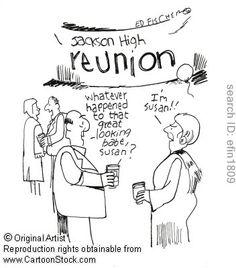 Class Reunion Cartoons and Comics Reunion Centerpieces, Class Reunion Decorations, High School Class Reunion, High School Classes, Reunion Quotes, Class Reunion Invitations, Teaching Schools, Bobe, Illustrations