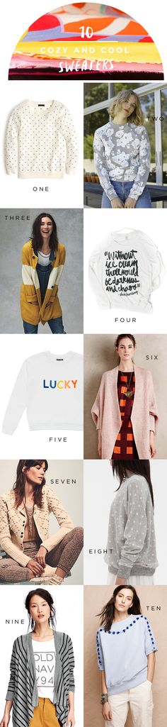 10 Cozy and Cool Sweaters