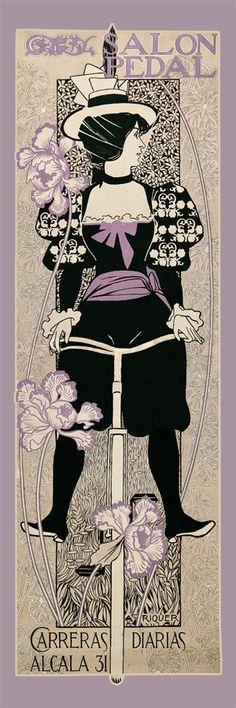 Art Nouveau poster from 1897 by Spanish Catalan artist Alexandre de Riquer.