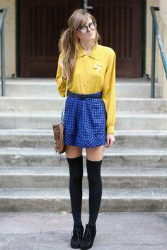 plaid skirt / schoolgirl