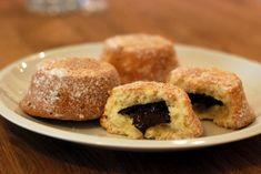 Koblížky s čokoládou jako muffiny