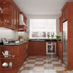 OP15-HS9: tradicional de madera maciza muebles de la casa