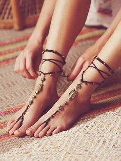 Free People Macrame Anklet Duo✖️More Pins Like This of At FOSTERGINGER @ Pinterest✖️