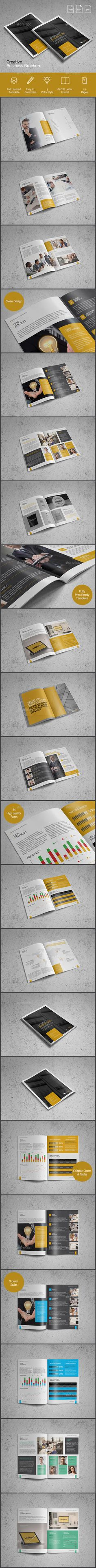 Creative Business Brochure - Brochures Print Templates Download here : https://graphicriver.net/item/creative-business-brochure/19262577?s_rank=143&ref=Al-fatih