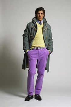 Polo Ralph Lauren. Not typical fall/winter colors!