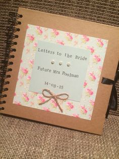 ask people to bring notes to shower when they are invited to put into scrapbook - marital advice, memories etc Bridal Shower Advice, Bridal Shower Party, Bridal Shower Scrapbook, Wedding Scrapbook, Hen Night Ideas, Hen Ideas, Hens Night, Letters To The Bride, Classy Hen Party