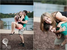 summer engagement photography ideas - picnic engagement, river engagement with sweet Cheerwine, colorful floats. Playful e-session in the James River. football engagement session- Virginia wedding and engagement photographer Lauren D. Rogers Photography | www.laurendrogers.com