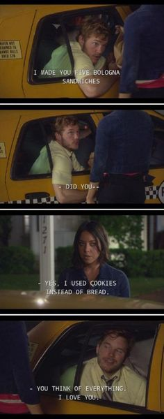 Parks and rec. cookies instead of bread