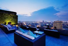 Three Sixty Outdoor Lounge at Millenium Hilton Bangkok, #Thailand