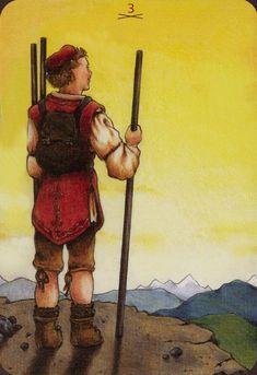 Three of Wands - Anna.K Tarot by Anna Klaffinger
