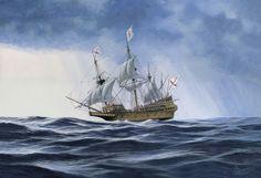 Galeon Español de cuatro palos S.XVI-XVII-