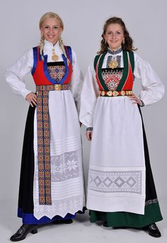Folk dresses from Fana, Norway