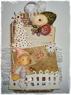 Christmas Tags Number 3 using Magnolia images and doohickey dies from www.magnoliastamp... #cards #crafts