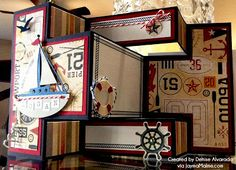 Tri-Shutter Card by Denise Alvarado using CTMH Tommy paper Z Cards, Step Cards, Pop Up Cards, Cards Diy, Baby Cards, Tri Fold Cards, Fancy Fold Cards, Folded Cards, Creative Gift Wrapping