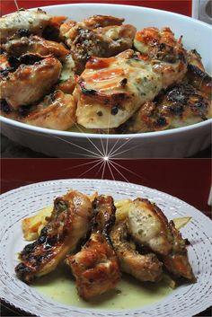 Παϊδάκι κοτόπουλο με σως !! ~ ΜΑΓΕΙΡΙΚΗ ΚΑΙ ΣΥΝΤΑΓΕΣ 2 Greek Recipes, Chicken Wings, Chicken Recipes, Bbq, Food And Drink, Meat, Cooking, Recipes, Barbecue