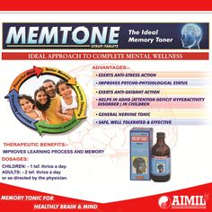 #Memtone is an ideal comprehensive approach to complete #mental wellness.  Website: www.aimilhealthcare.com Store : www.aimilpharmacy.life