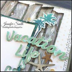 Create By Jennifer: Atlantic Hearts 218 - Vacation Life Layout Vacation Scrapbook, Scrapbook Blog, Scrapbook Sketches, Scrapbooking Layouts, Scrapbook Cards, Heart Sketch, Creative Memories, Paper Hearts, Close To My Heart