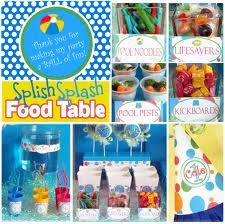 Pool Party ideas for Maddi and Brendan's end of year party