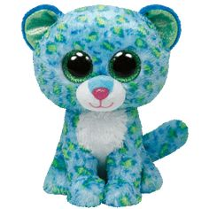 Ty Beanie Boos Leona Blue Leopard Medium
