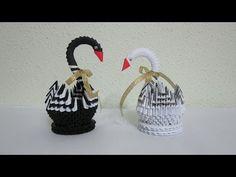 TUTORIAL - 3D Origami Baby Swan - YouTube