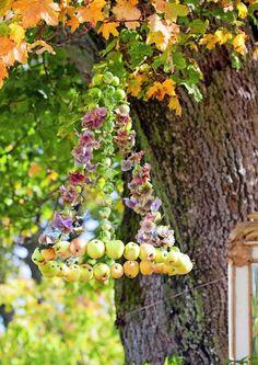 Raikkaan tuoksuinen omenakranssi kruunaa syksyiset pihajuhlat. Text Reija Rantakallio, photo Minna Mercke Schmidt viherpiha.fi