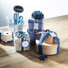 DIY Make Market Denim Floral Embellished Gift Boxes