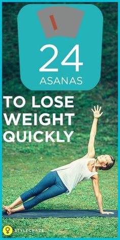 24 Asanas to lose weight Quickly