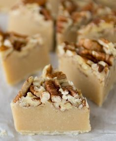 Pecan Pie Fudge. This is the perfect dessert to round out a Thanksgiving meal, or for your holiday platters.