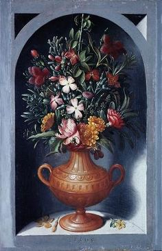 ArtHistoryReference - Ludger tom Ring II - Flowers in Vase in Niche