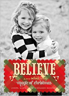 Believe in the magic of Christmas | Behold The Magic Christmas Card at Shutterfly.com