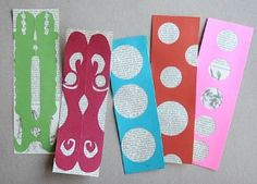 Make your own bookmarks out of book pages! Book Page Bookmarks for kids.