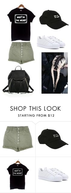 """""""Purpose world tour outfit """" by amandaarya ❤ liked on Polyvore featuring River Island, Justin Bieber, adidas and Rebecca Minkoff"""