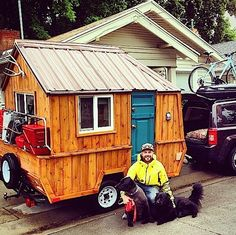 If you've been looking for a tiny home you can take with you, travel with, and go on adventures with. Then you might want to consider a micro cabin like this one. It still has that cabin look and f...