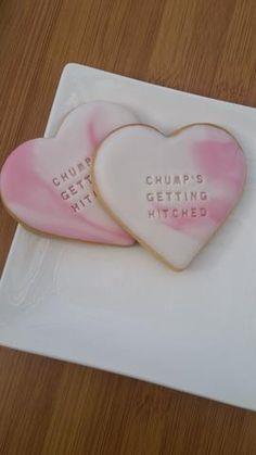Personalised cookies - heart Fondant Cookies, Fondant Icing, Royal Icing Cookies, Sugar Cookies, Personalised Biscuits, Personalised Cakes, Personalized Cookies, Wedding Prep, Wedding Ideas