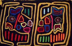 Kuna Indian Classic Design Mola Art-Panama 15110113L