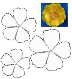 17 Best Bunga Kertas Images Fabric Flowers Flower Template Paper