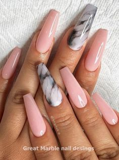 It's better to try marble nail designs. Simple black and white tones can make you look tasty and stand out from the many identical nails! Lime-and-white marble nail designs is like an ink lands Marble Nail Designs, Marble Nail Art, Ombre Nail Designs, Acrylic Nail Designs, Nail Art Designs, Nails Design, Design Art, Design Ideas, Cute Acrylic Nails