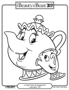 Beauty and the beast Free Coloring Pages Coloring Pages