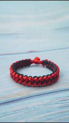 Rope Crafts, Diy Crafts Hacks, Diy Crafts Jewelry, Diy Crafts For Gifts, Bracelet Crafts, Bead Crafts, Diy Bracelets Patterns, Diy Friendship Bracelets Patterns, Diy Bracelets Easy