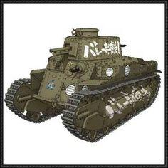 Girls und Panzer - Type 89 I-Go Medium Tank Paper Model Free Download - http://www.papercraftsquare.com/girls-und-panzer-type-89-i-go-medium-tank-paper-model-free-download.html