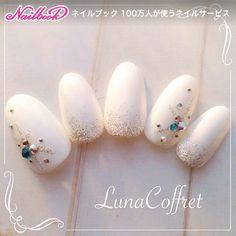 Japanese Nail Art More Colorful Nail Designs, Beautiful Nail Designs, Nail Art Designs, Cute Nail Art, Cute Nails, Pretty Nails, Japanese Nail Design, Japanese Nail Art, Gem Nails