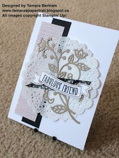 Handmade Cards; Flourish Thinlits; Banners for You; Fabulous Friend; All Occasions; Serene Scenery; 2016 Stampin' Up! Catalogue; Stampin' Up!; Tamara's Paper Trail