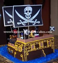 Coolest Pirate Ship Birthday Cake Pirate ships Chocolate box cake
