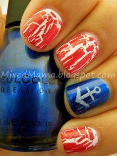 nails.quenalbertini: 4th of July Nail Art | MixedMama