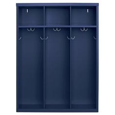 These Open Front Kids Lockers are perfect for storing clothing, books and other accessories. They are made out of durable steel. Features three 12 in. wide open locker sections. Unit measures 48 in. H x 36 in. W x 14 in. Garage Lockers, Home Lockers, Built In Lockers, Kids Storage, Storage Organization, Locker Storage, College Organization, Kids Locker, Locker Accessories
