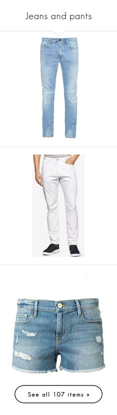 """Jeans and pants"" by errecsak on Polyvore featuring men's fashion, men's clothing, men's jeans, men, pants, jeans, denim, mens low rise jeans, mens slim jeans and mens faded jeans"