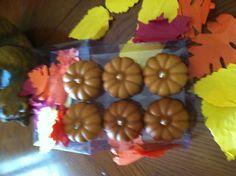 My yummy pumpkin votives. Fragrance is Pumpkin Creme brulee